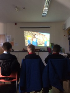 6th class pupils from Scoil Padre Pio at Youth WOrk Ireland Cork participating in an Internet Safety Workshop